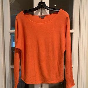 Vince long sleeve orange sweater. Size small